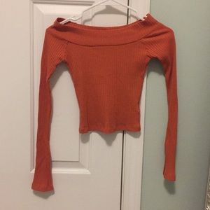 Urban Outfitters Orange Off the Should Top